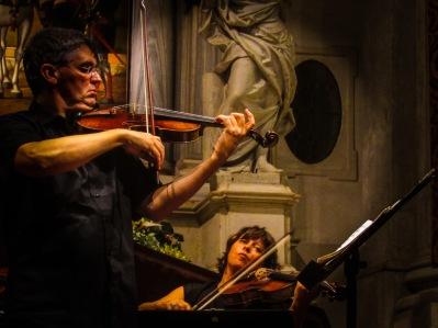 Giacobbe Stevanato with the 1810 Pique violin playing Vivaldi's four seasons 25 September 2016