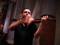 Violinist nicola Granillo with the E. Guerra violin from the Thys de Castella collection in concert 22 July 2016