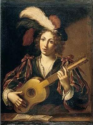 Vignon_Claude_1593-1670_circle_of_-_Young_Girl_Playing_Guitar1