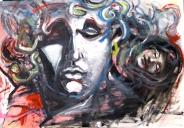il sogno di Medusa, olio su tavola cm 80 x 118 2009