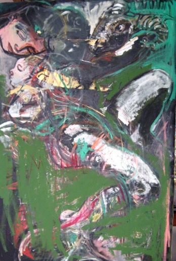 Isacco olio su tela cm 100x150 2011