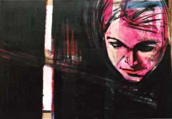 Luce, cm 70 x100, tecnica mista su tela grezza Emiliano Marinucci 2010