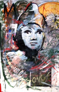 Mitra olio su tavola cm 100x150 2011