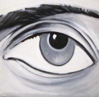 Occhio, vedere cm 40x40 olio su tela 2009
