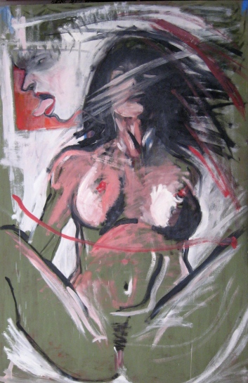 Orgasmo II olio su tavola cm100x150 2010