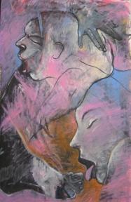 Orgasmo olio su tavola cm 100 x 150 2010